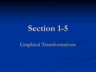 Section 1-5