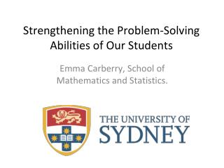 Strengthening the Problem-Solving Abilities of Our Students