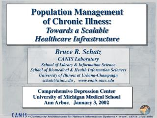 Population Management of Chronic Illness: Towards a Scalable  Healthcare Infrastructure