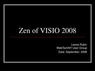 Zen of VISIO 2008