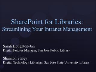 SharePoint for Libraries: Streamlining Your Intranet Management