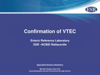Confirmation of VTEC