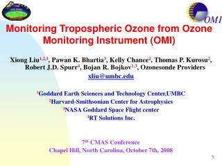 Monitoring Tropospheric Ozone from Ozone Monitoring Instrument (OMI)