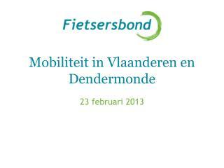 Mobiliteit in Vlaanderen en  Dendermonde