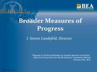 Broader Measures of Progress