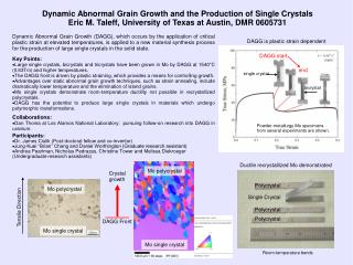 Dynamic Abnormal Grain Growth and the Production of Single Crystals