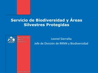 Servicio de Biodiversidad y Áreas Silvestres Protegidas