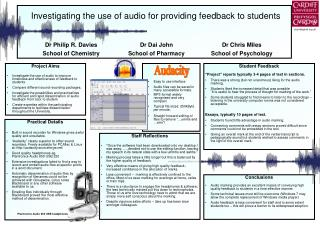 Investigating the use of audio for providing feedback to students