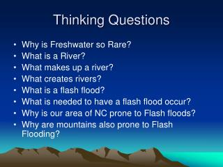 Thinking Questions