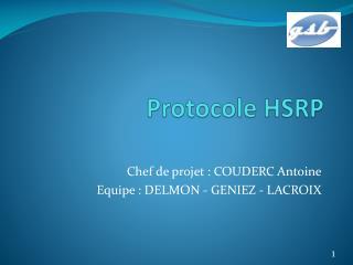 Protocole HSRP