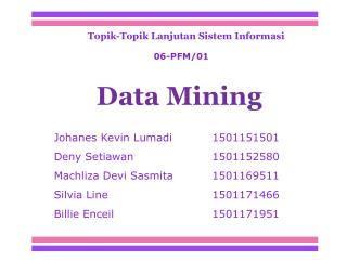 Topik-Topik Lanjutan Sistem Informasi