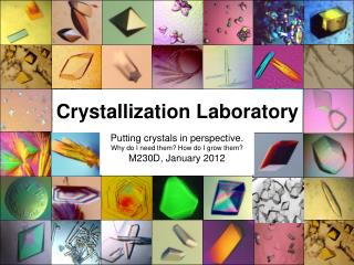 Crystallization Laboratory