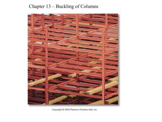 Chapter 13 – Buckling of Columns