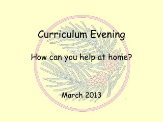 Curriculum Evening How can you help at home?