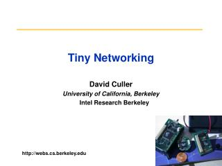 Tiny Networking