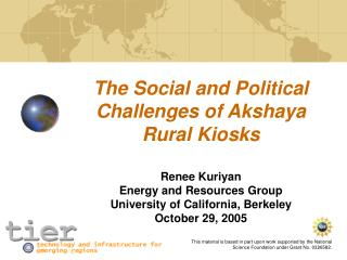 The Social and Political Challenges of Akshaya Rural Kiosks