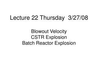 Lecture 22 Thursday  3