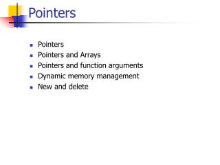 Pointers