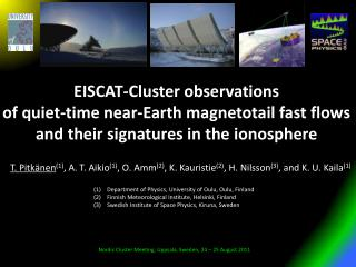 EISCAT-Cluster observations  of quiet-time near-Earth magnetotail fast flows