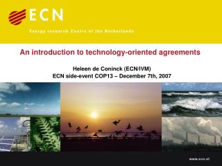 An introduction to technology-oriented agreements