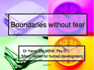 Boundaries without fear