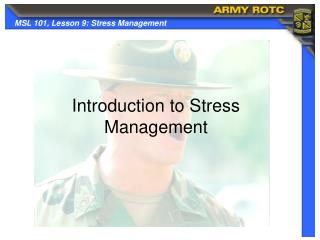 Introduction to Stress Management