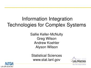 Information Integration Technologies for Complex Systems