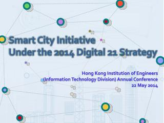Hong Kong Institution of Engineers  (Information Technology Division) Annual Conference