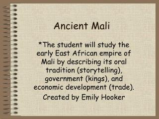 Ancient Mali