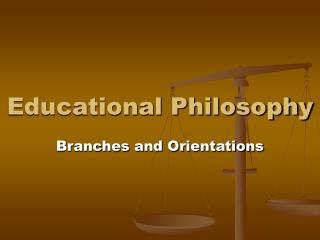 Educational Philosophy