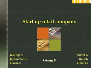 Start up retail company