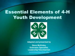 Essential Elements of 4-H Youth Development