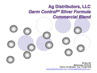 Ag Distributors, LLC Germ Control 24  Silver Formula Commercial Blend
