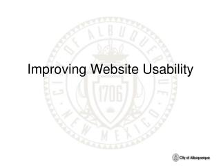 Improving Website Usability