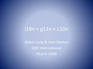 i18n = g11n + L10n