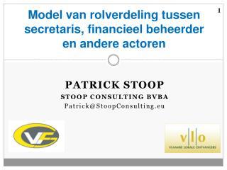 Model  van rolverdeling tussen secretaris, financieel beheerder en andere actoren