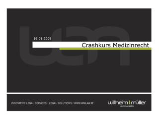 Crashkurs Medizinrecht