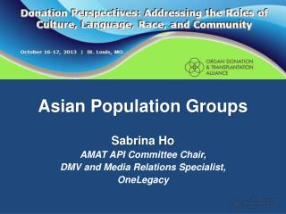 Asian Population Groups
