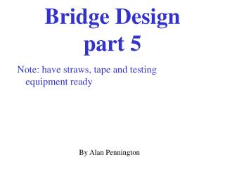 Bridge Design  part 5