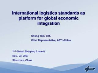 International logistics standards as platform for global economic integration