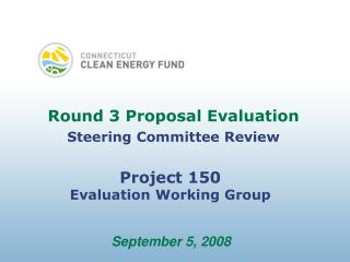 Project 150 Evaluation Working Group