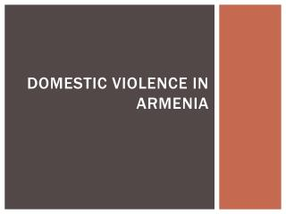 Domestic violence in Armenia