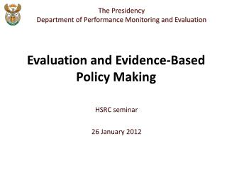 HSRC seminar 26 January 2012