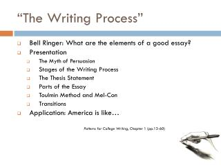 """""""The Writing Process"""""""