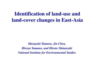 Identification of land-use and  land-cover changes in East-Asia