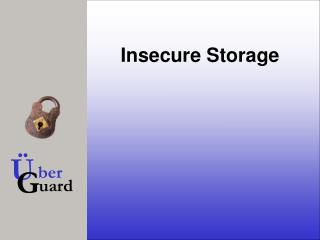 Insecure Storage