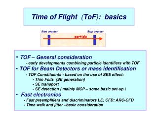 Time of Flight   ( ToF ) :  basics
