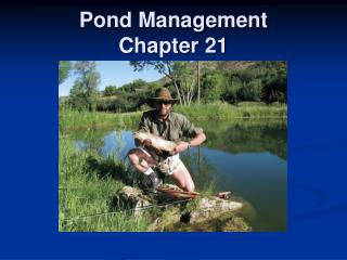 Pond Management Chapter 21