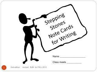 Stepping Stones Note Cards for Writing