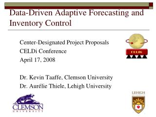 Data-Driven Adaptive Forecasting and Inventory Control
